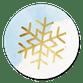Sneeuwvlok goud - blauw met wit