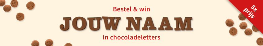 Win  je naam in chocoladeletters