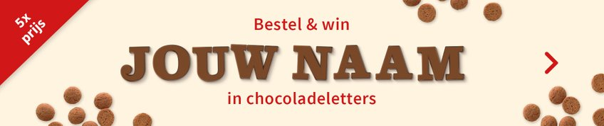 Win je naam in chocoladeletters