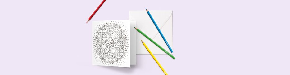 Kleurplaat kaarten