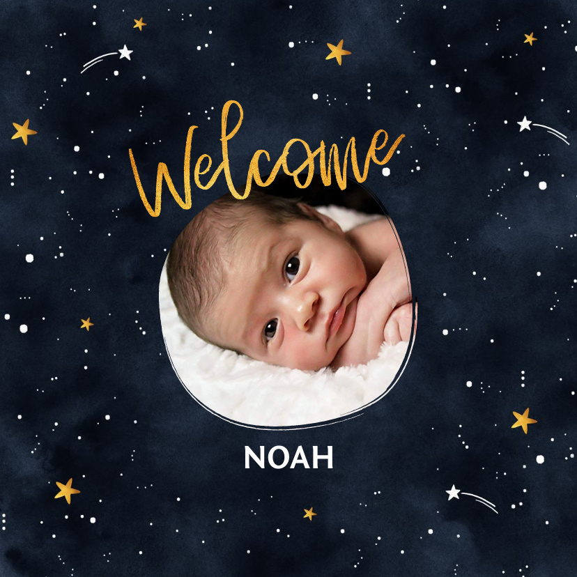 Vorname Noah als Geburtskarte