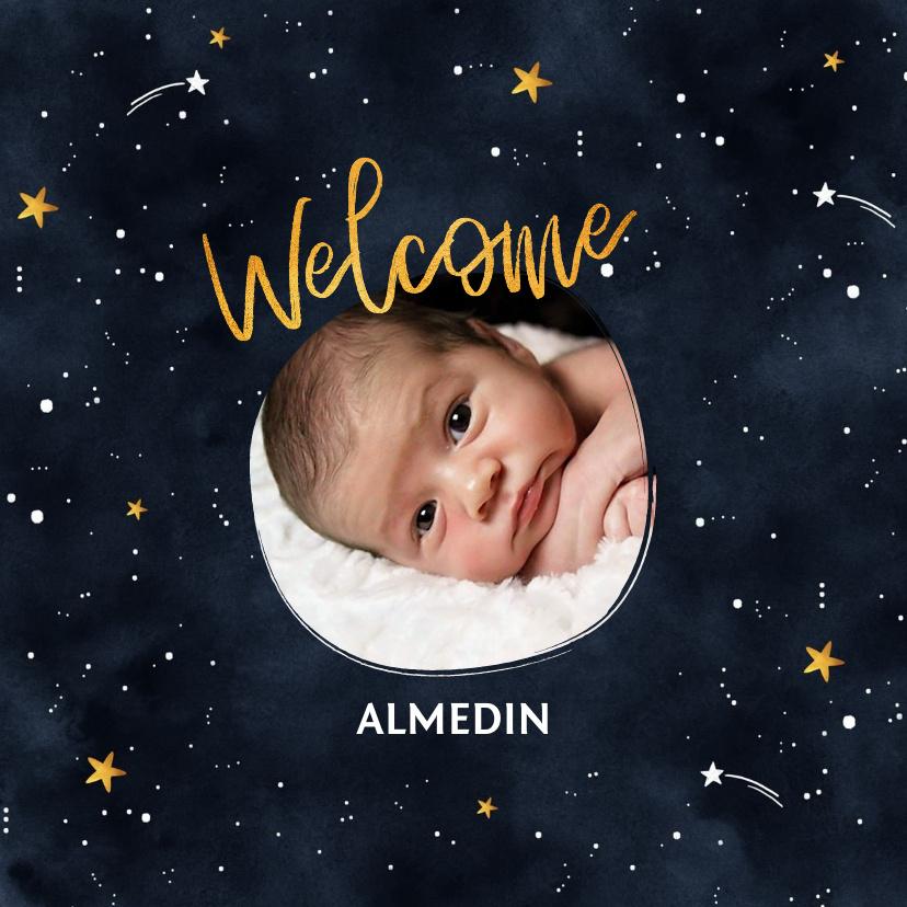 Vorname Almedin als Geburtskarte