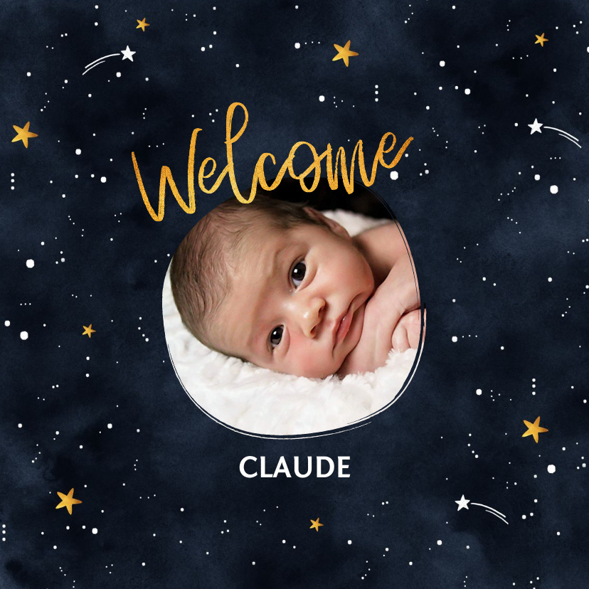 Vorname Claude als Geburtskarte