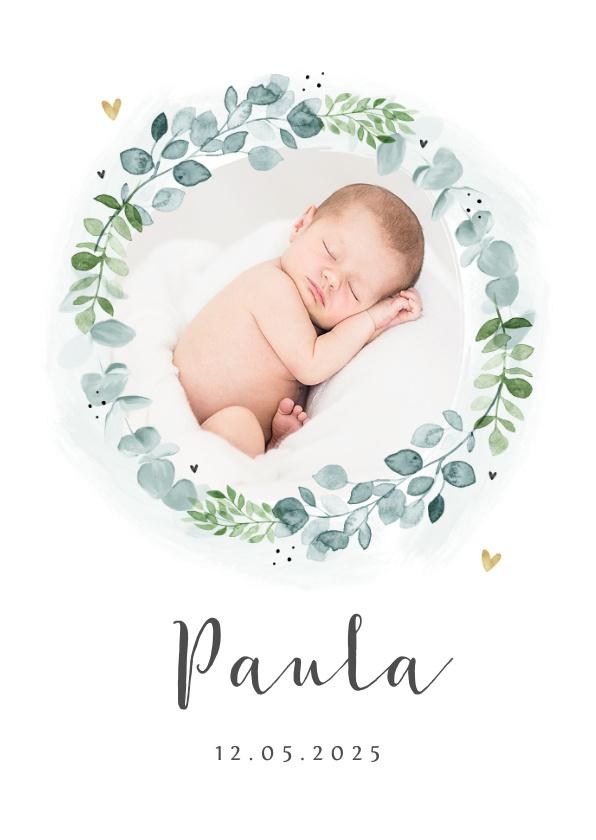 Vorname Paula als Geburtskarte