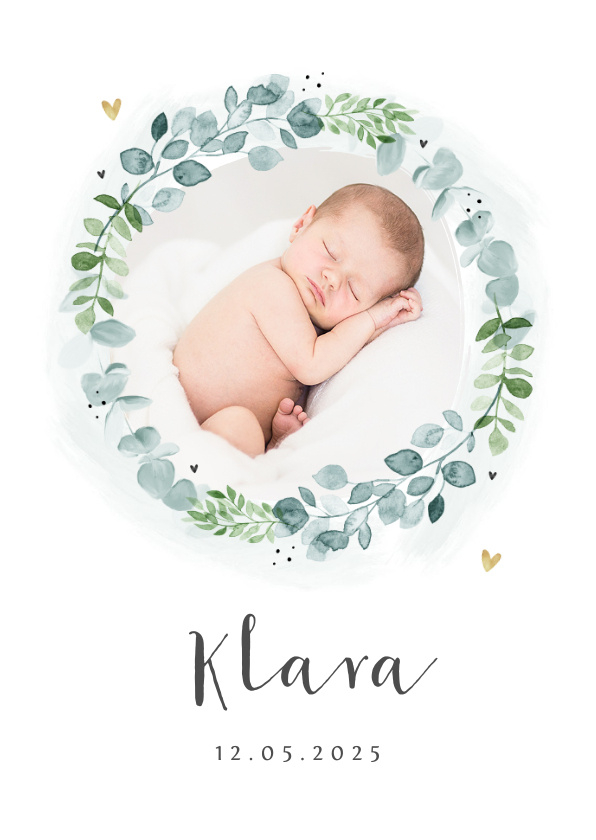 Vorname Klara als Geburtskarte