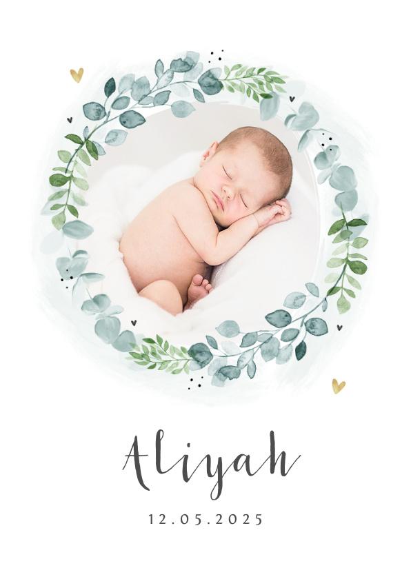 Vorname Aliyah als Geburtskarte