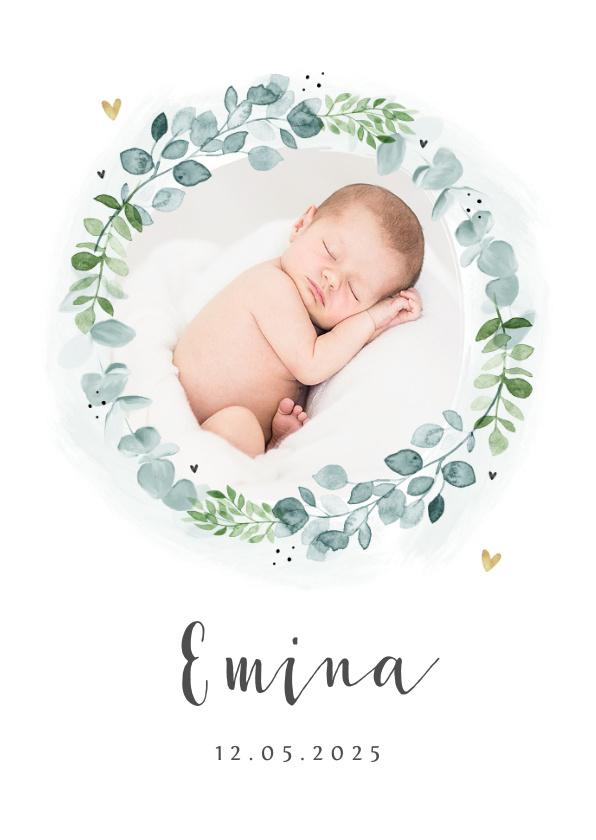 Vorname Emina als Geburtskarte