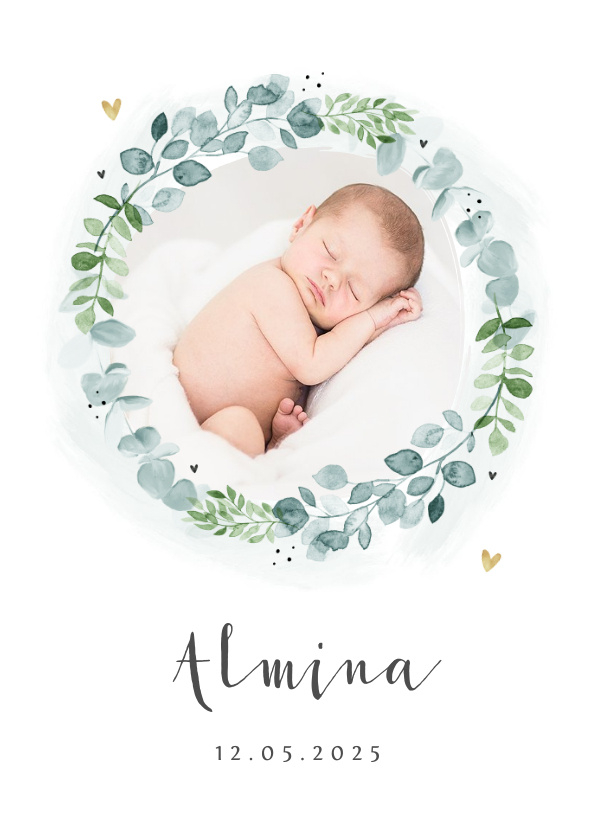 Vorname Almina als Geburtskarte