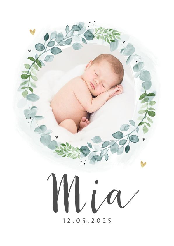 Vorname Mia als Geburtskarte