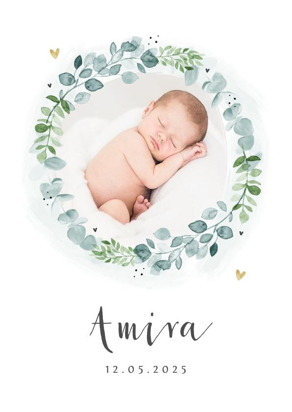 Vorname Amira als Geburtskarte