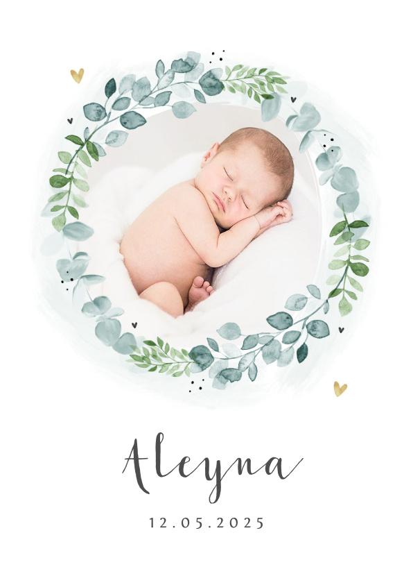 Vorname Aleyna als Geburtskarte
