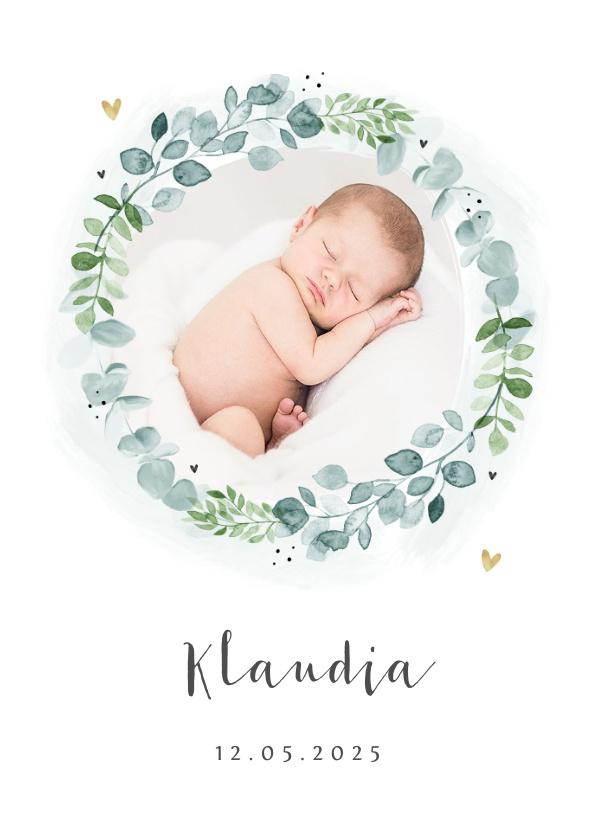 Vorname Klaudia als Geburtskarte