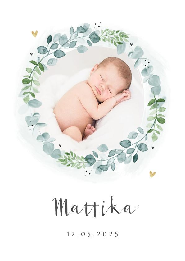 Vorname Mattika als Geburtskarte