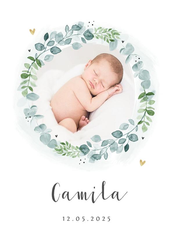 Vorname Camila als Geburtskarte