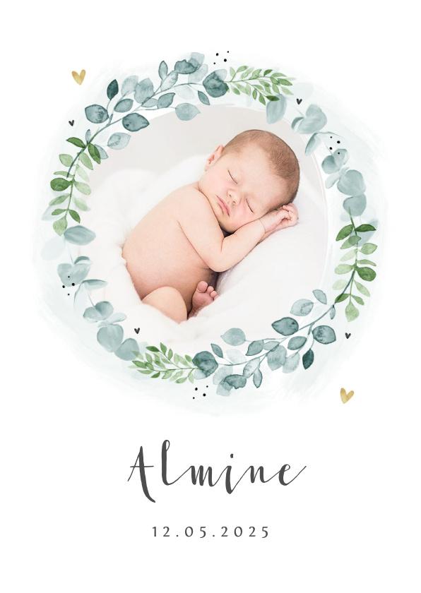 Vorname Almine als Geburtskarte