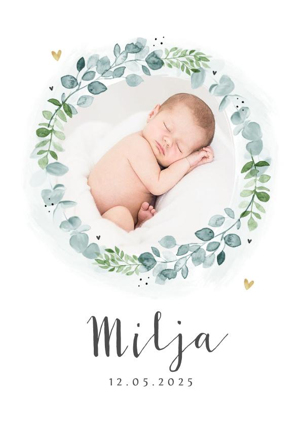 Vorname Milja als Geburtskarte