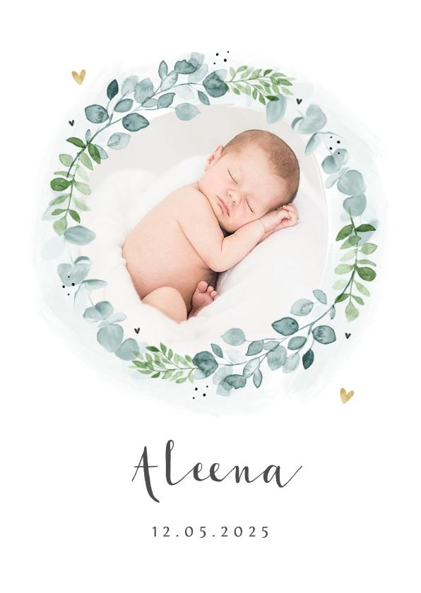 Vorname Aleena als Geburtskarte