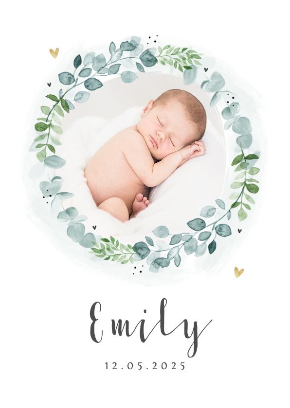 Vorname Emily als Geburtskarte
