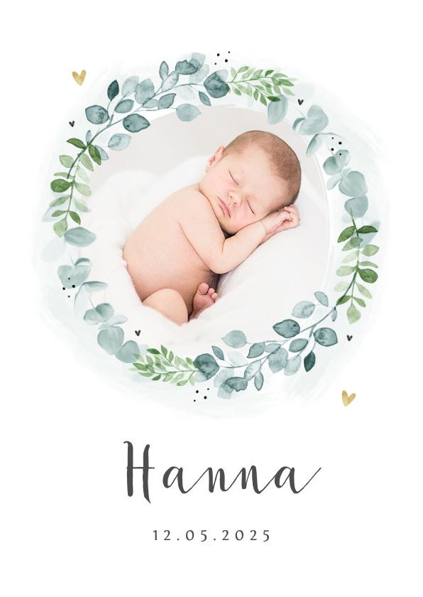 Vorname Hanna als Geburtskarte
