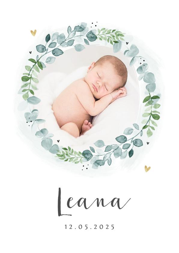 Vorname Leana als Geburtskarte