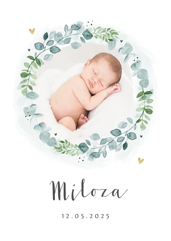 Vorname Miloza als Geburtskarte