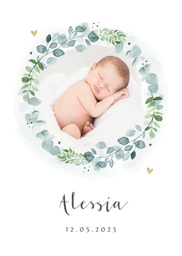 Vorname Alessia als Geburtskarte