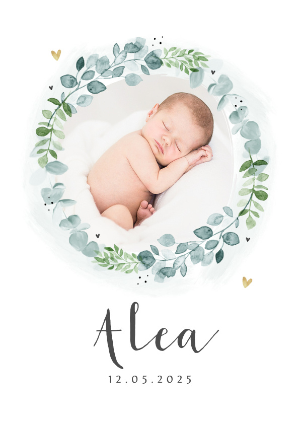 Vorname Alea als Geburtskarte
