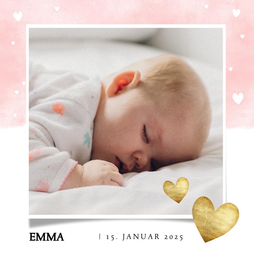 Vorname Emma als Geburtskarte