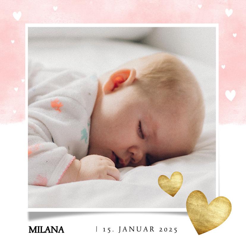 Vorname Milana als Geburtskarte