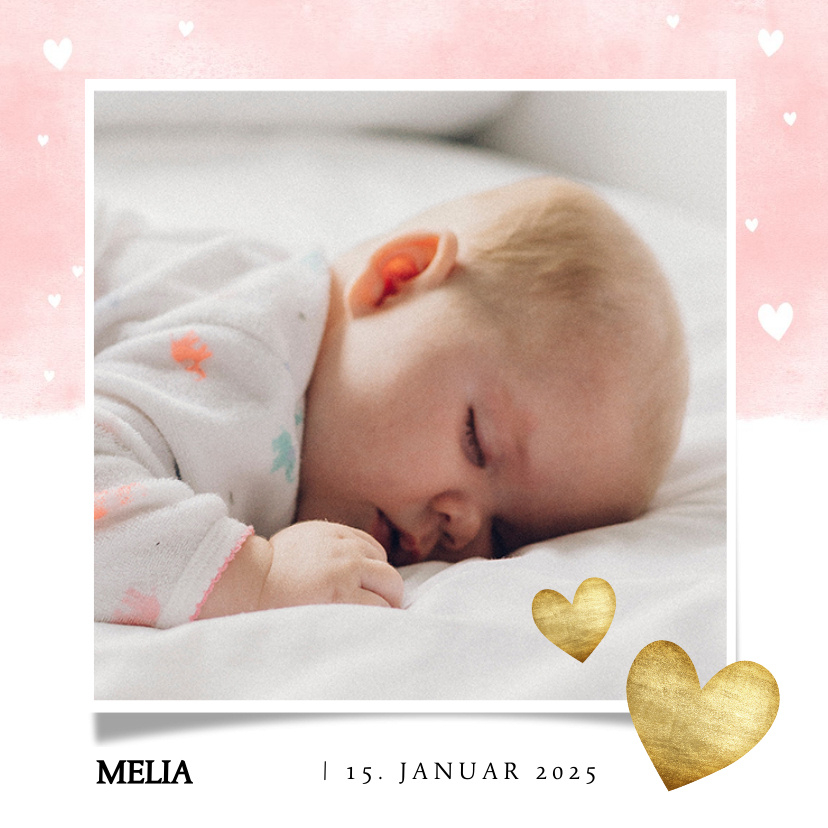 Vorname Melia als Geburtskarte