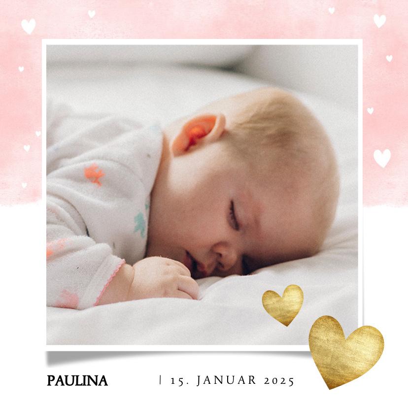 Vorname Paulina als Geburtskarte