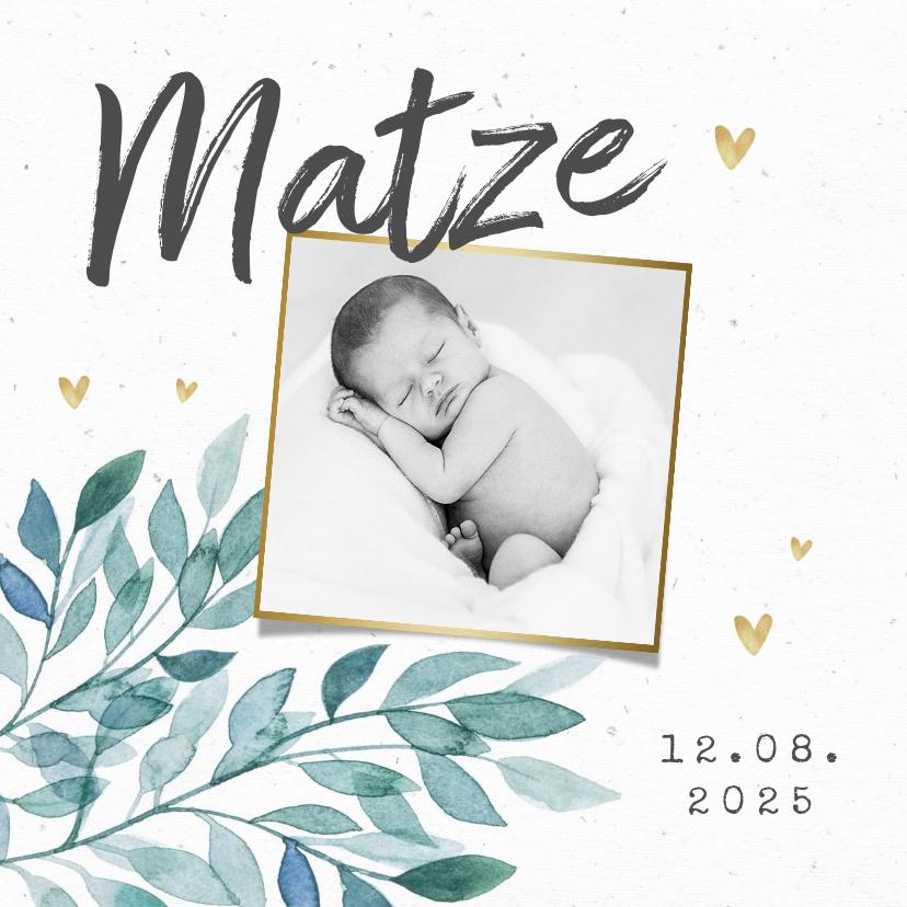 Vorname Matze als Geburtskarte