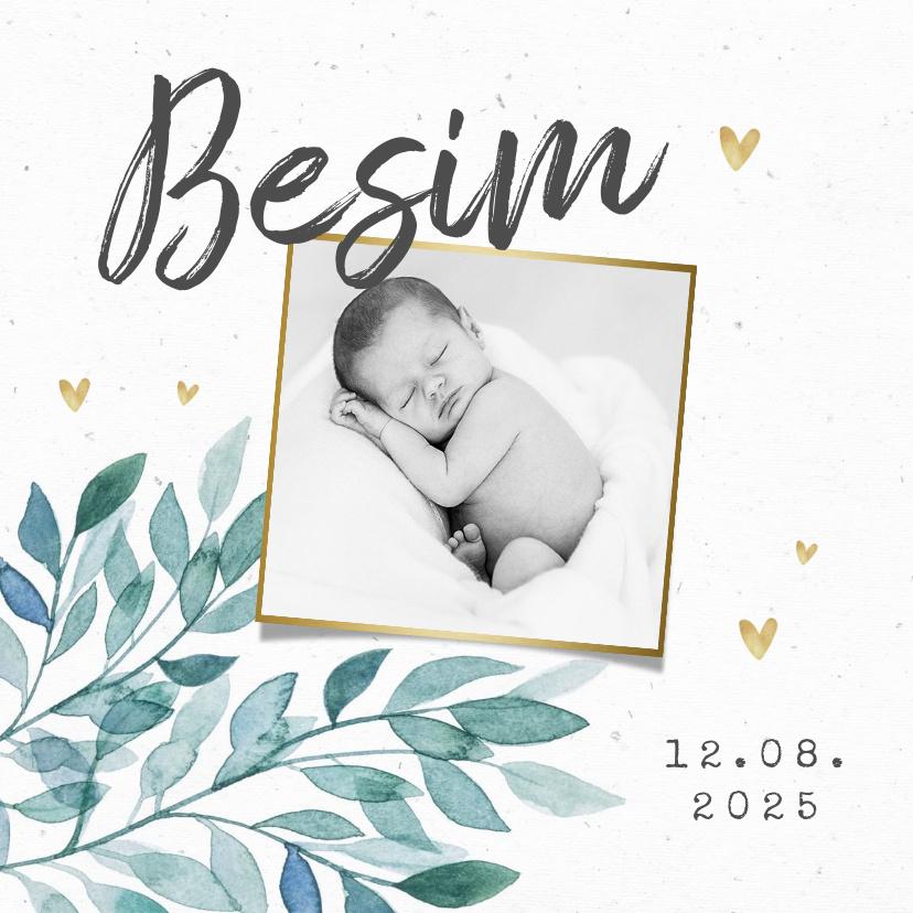 Vorname Besim als Geburtskarte