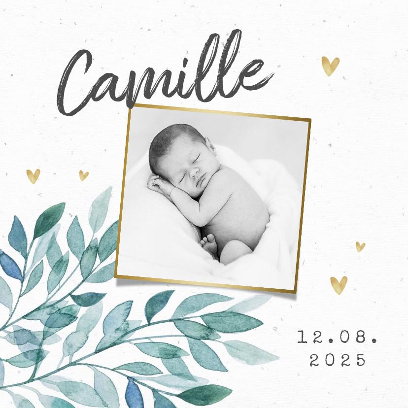 Vorname Camille als Geburtskarte