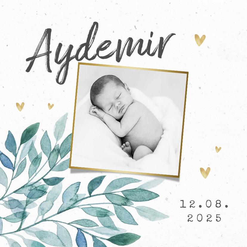 Vorname Aydemir als Geburtskarte