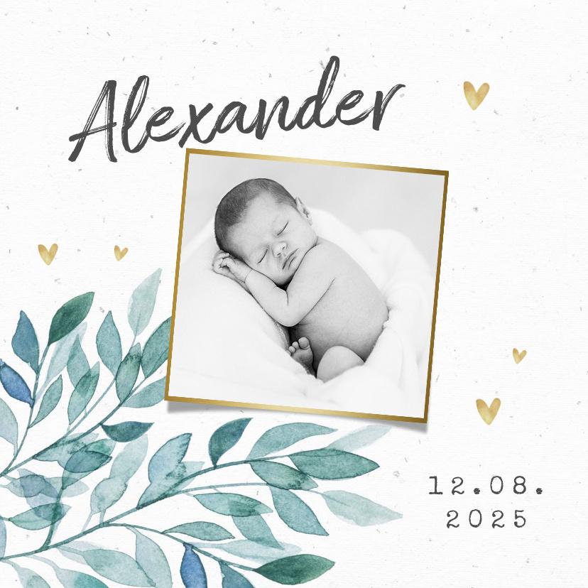 Vorname Alexander als Geburtskarte