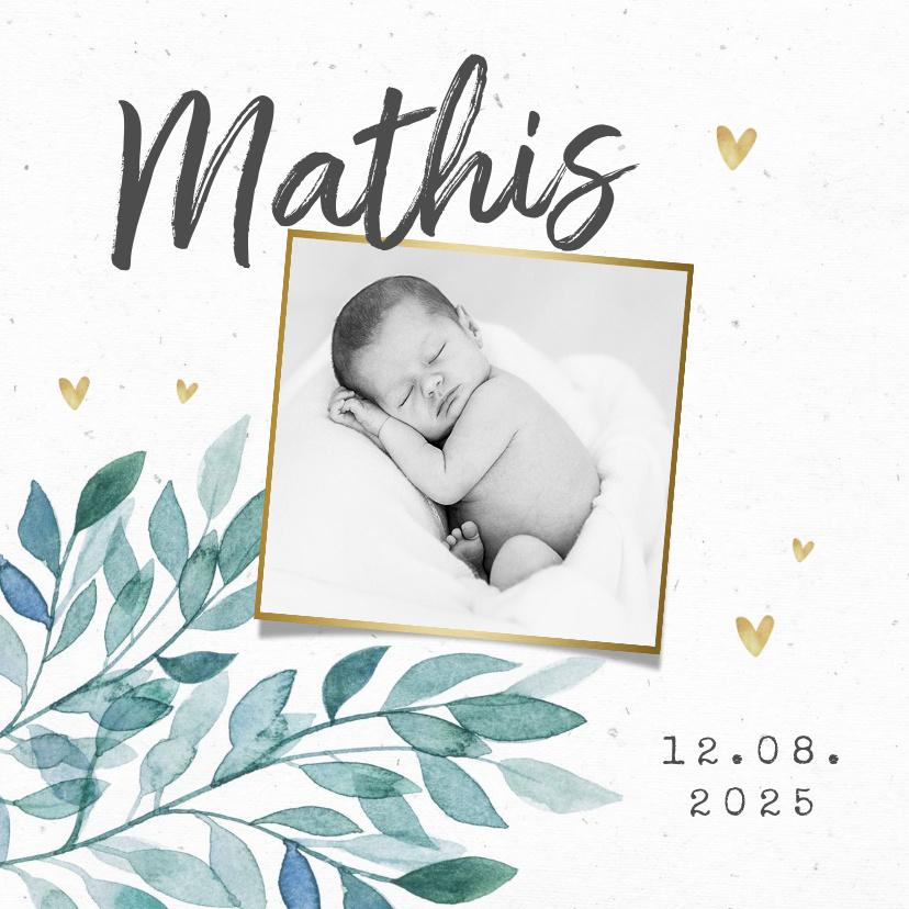 Vorname Mathis als Geburtskarte