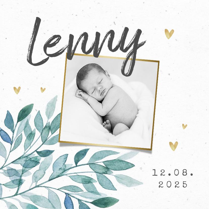 Vorname Lenny als Geburtskarte
