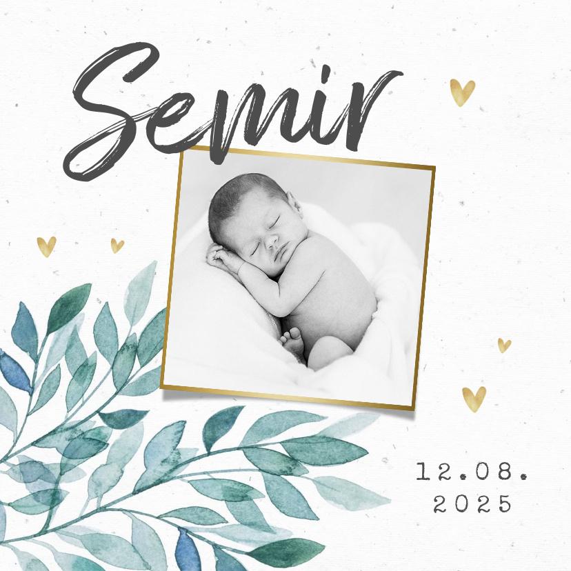 Vorname Semir als Geburtskarte