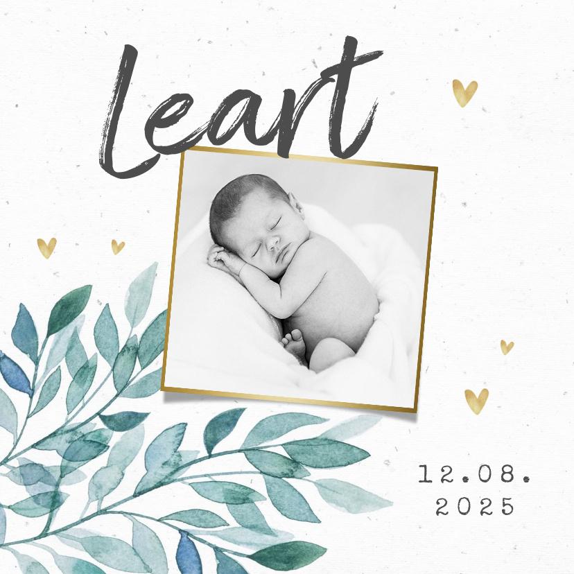 Vorname Leart als Geburtskarte