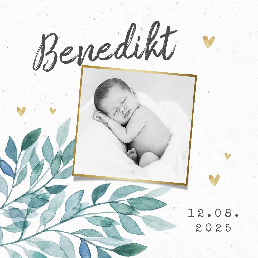Vorname Benedikt als Geburtskarte