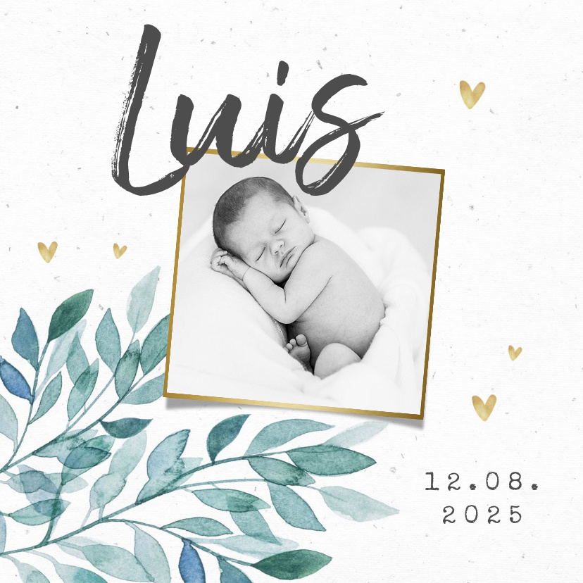Vorname Luis als Geburtskarte