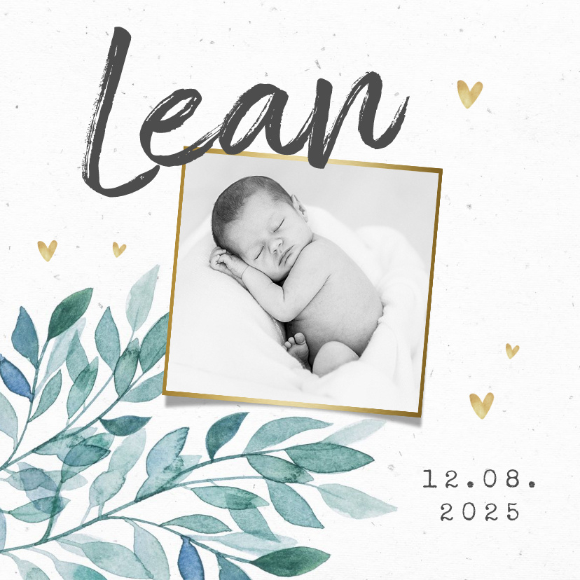 Vorname Lean als Geburtskarte