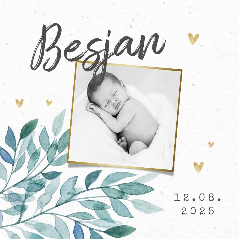 Vorname Besjan als Geburtskarte