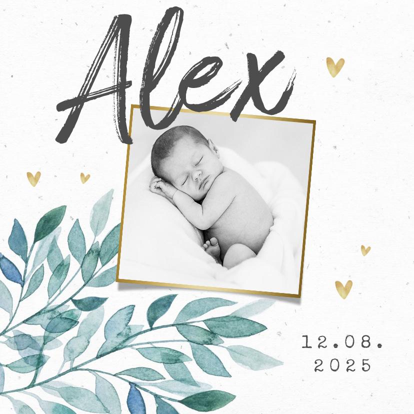 Vorname Alex als Geburtskarte