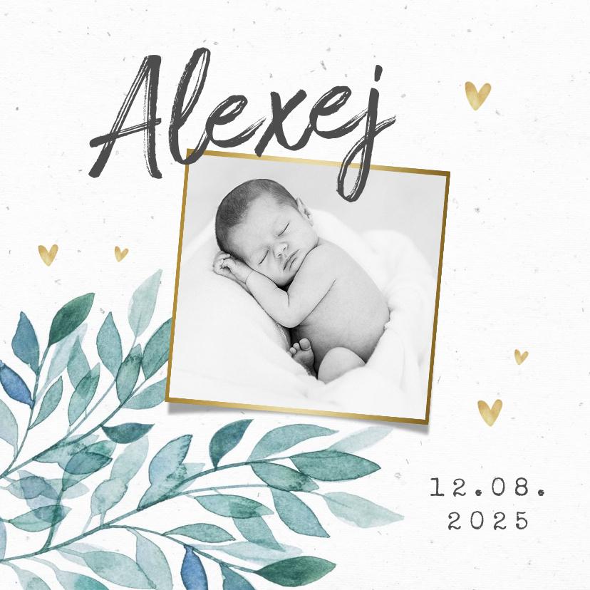 Vorname Alexej als Geburtskarte