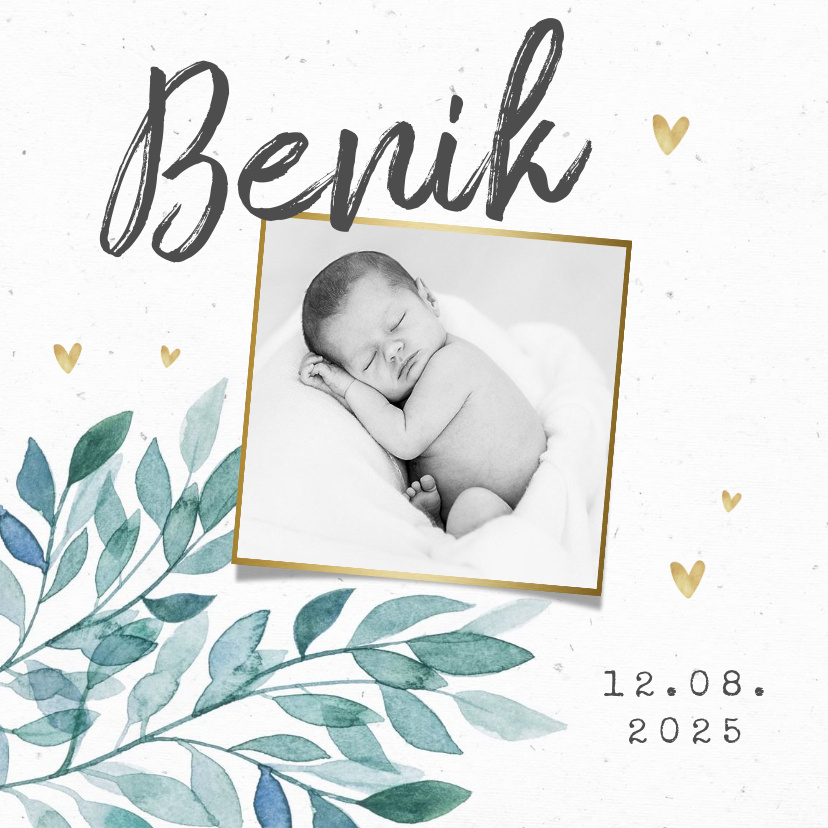 Vorname Benik als Geburtskarte