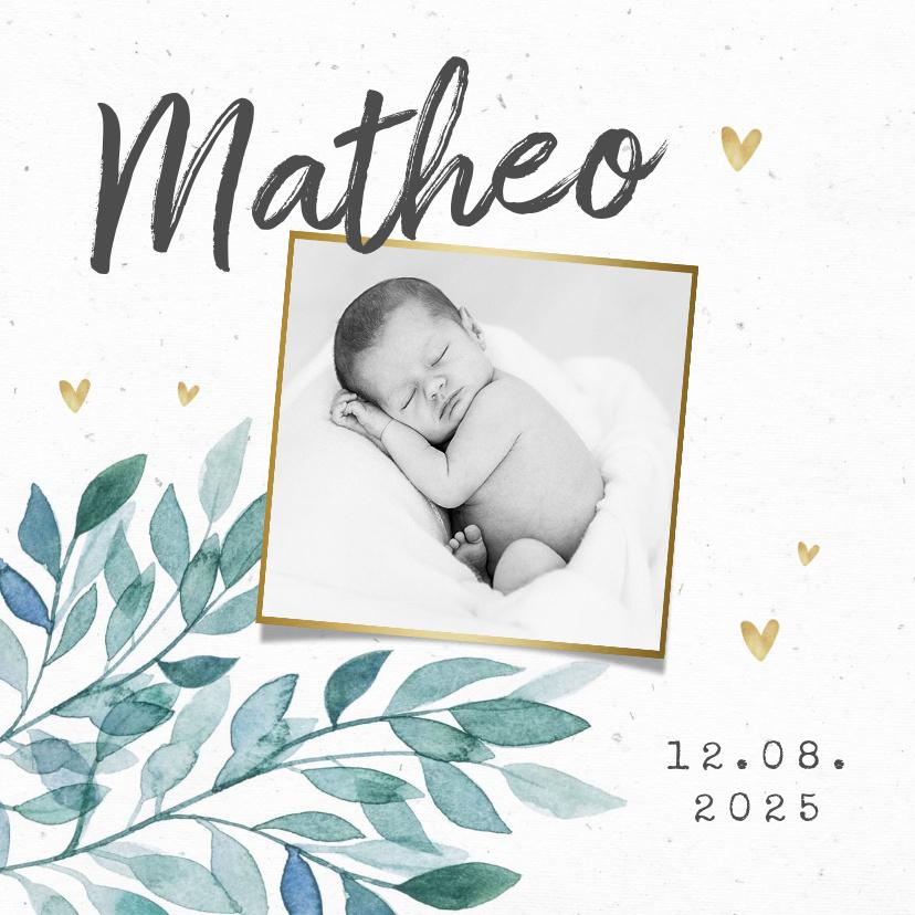 Vorname Matheo als Geburtskarte