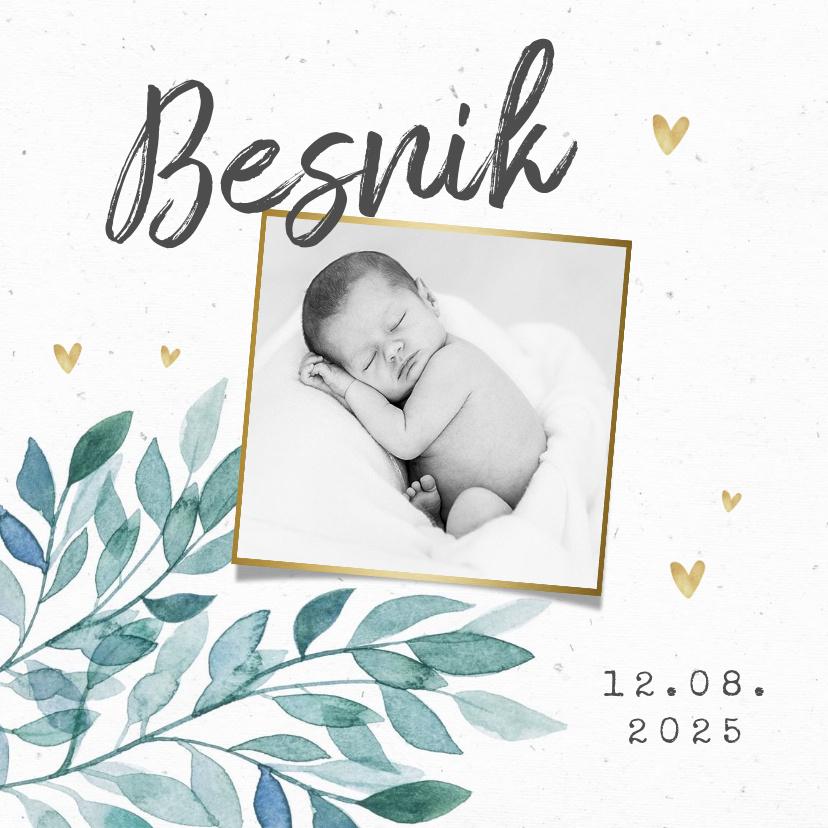 Vorname Besnik als Geburtskarte