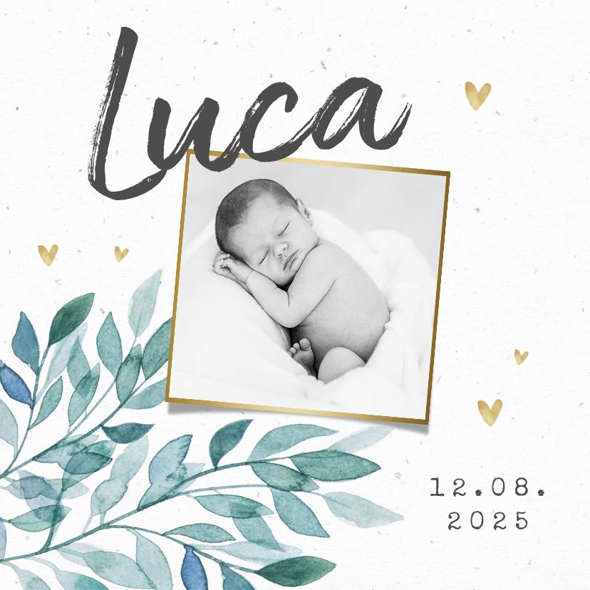 Vorname Luca als Geburtskarte